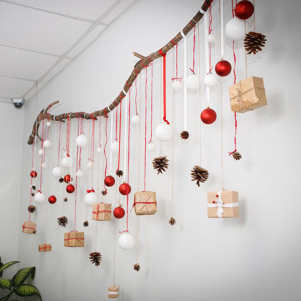 Новогоднее оформление офиса своими руками фото