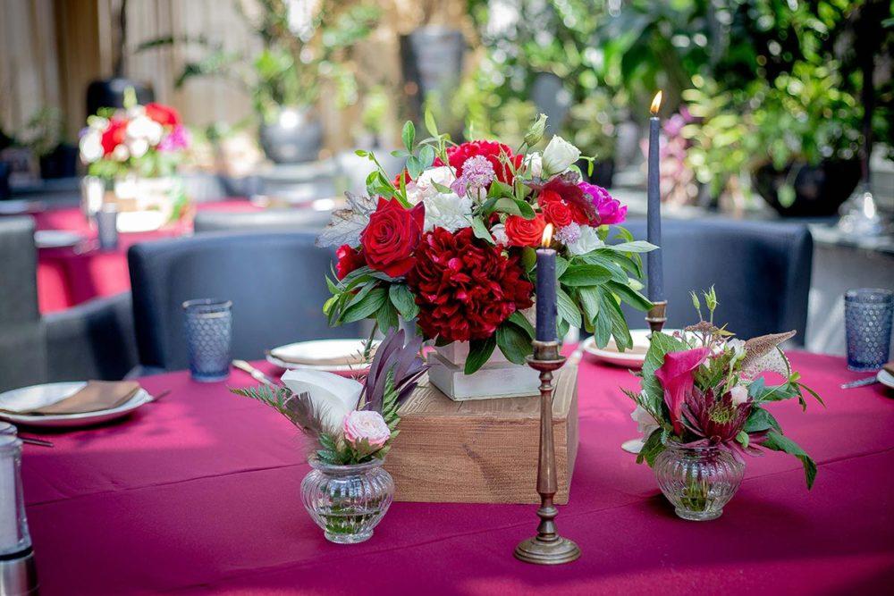 Цветочная композиция для свадьбы бохо