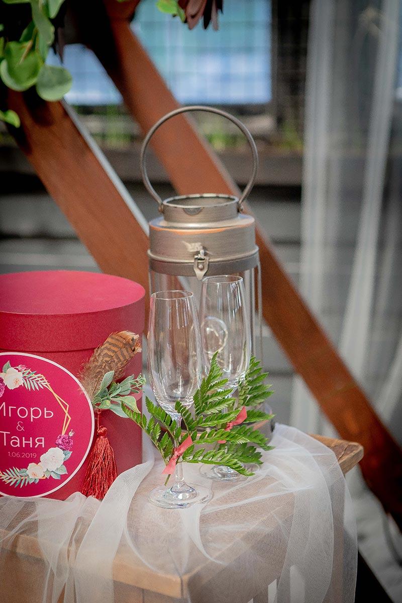 Декоративный фонарь для оформления свадьбы