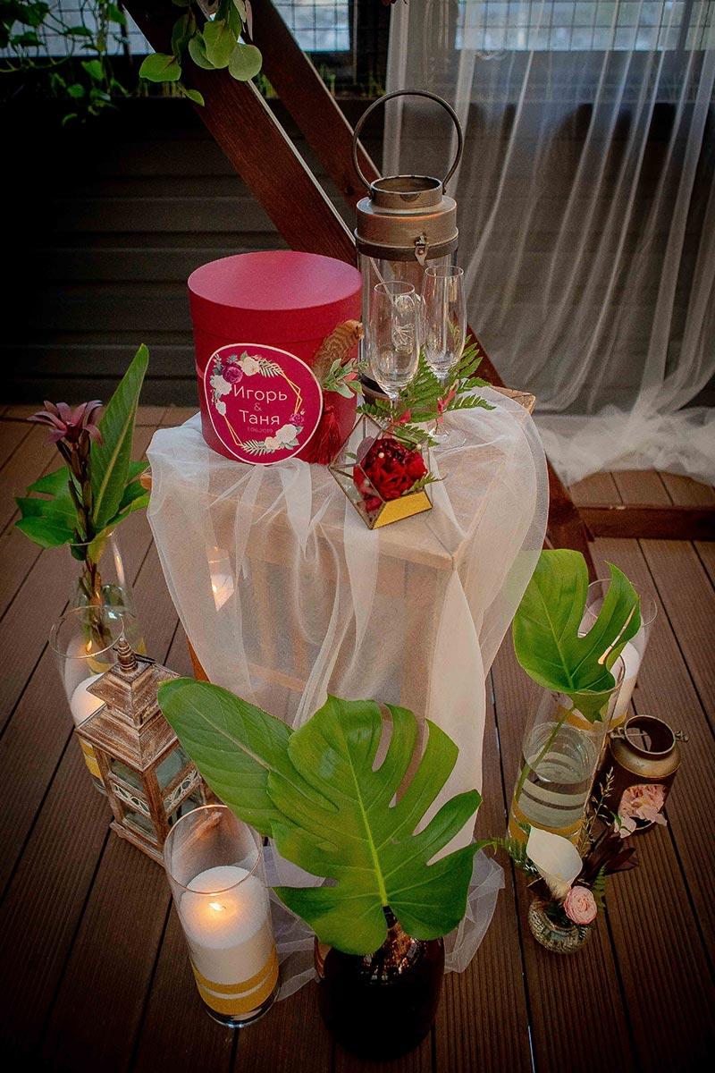 Оформление стола для выездной церемонии
