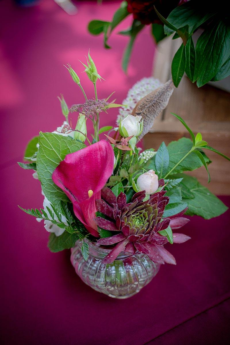 Флористика в вазе в стиле бохо